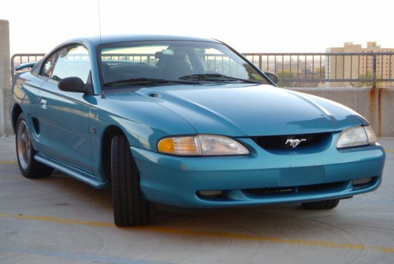 Teal 1994 Ford Mustang