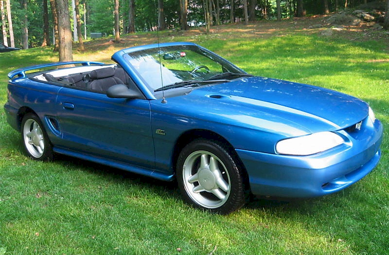 Bright Blue 1994 Ford Mustang