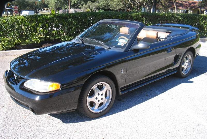 Black 1995 Ford Mustang