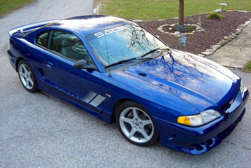 Moonlight Blue 1996 Ford Mustang