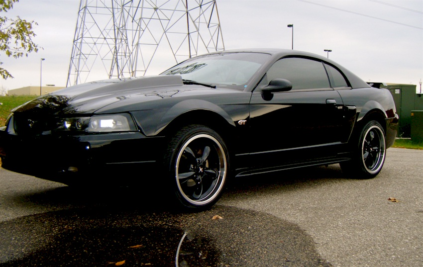 Black 2001 Ford Mustang