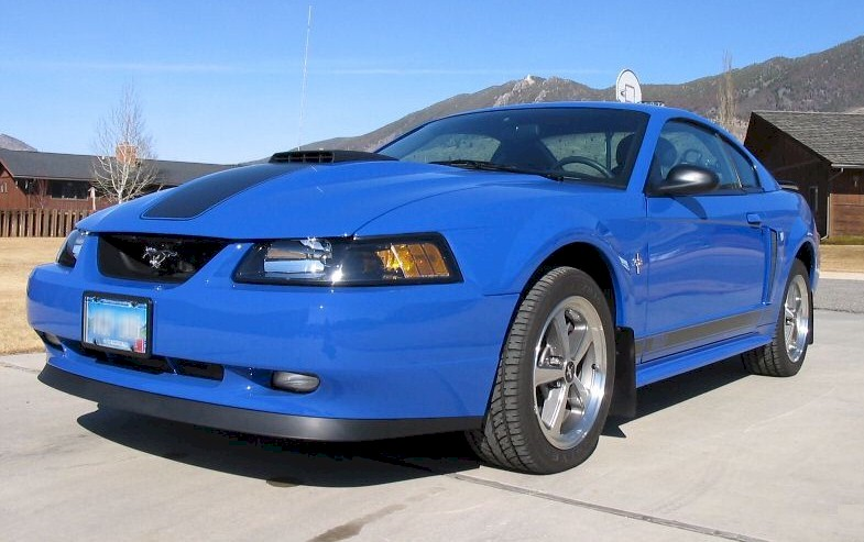 Azure Blue 2003 Ford Mustang