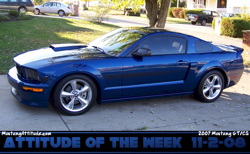 Vista Blue 2007 Ford Mustang