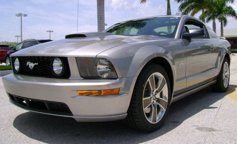 Silver 2008 Ford Mustang