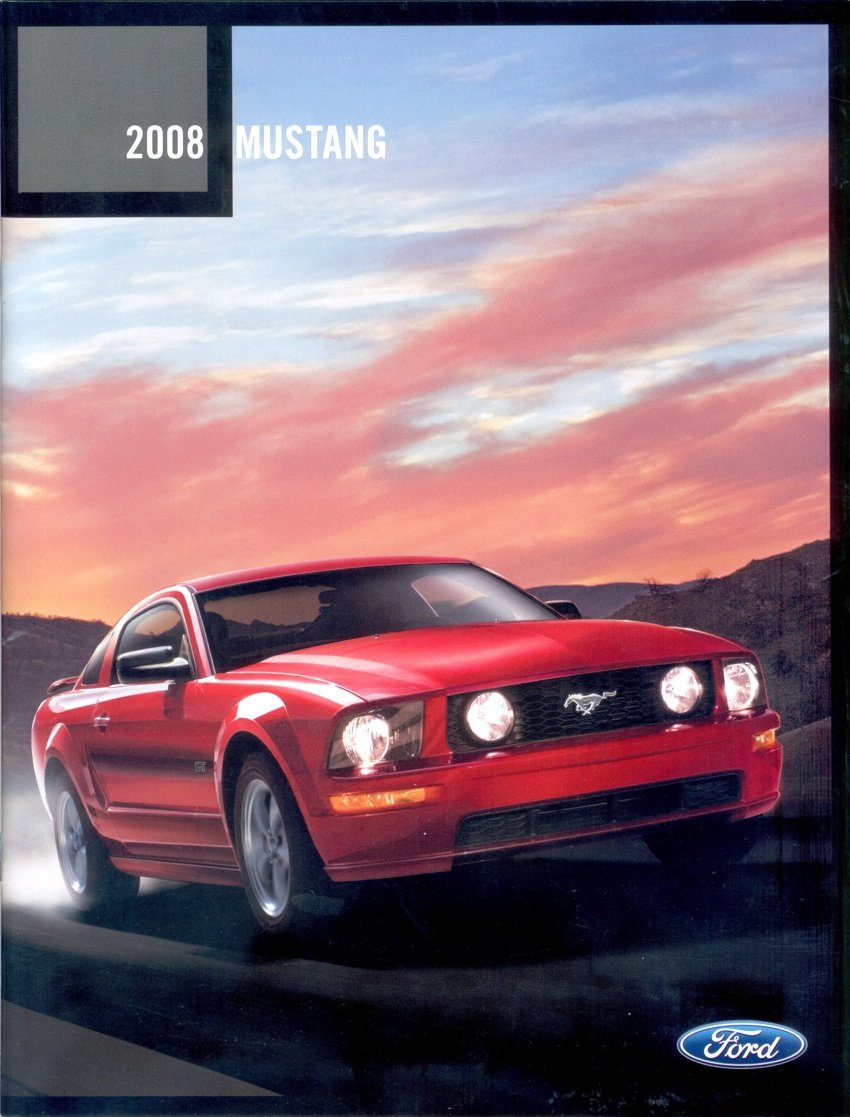 2008 ford mustang brochure. Black Bedroom Furniture Sets. Home Design Ideas