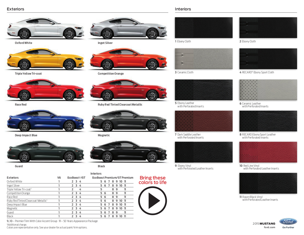 Ford 2015 mustang sales brochure nvjuhfo Choice Image
